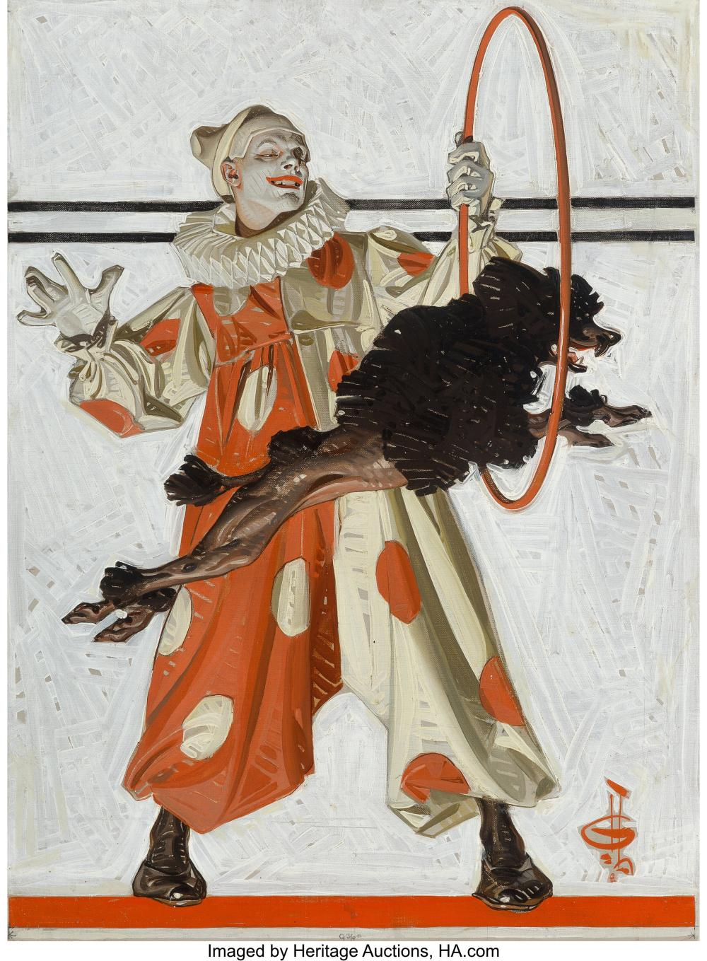 Joseph Christian Leyendecker (American, 1874-1951) Circus Dog, The Saturday Even
