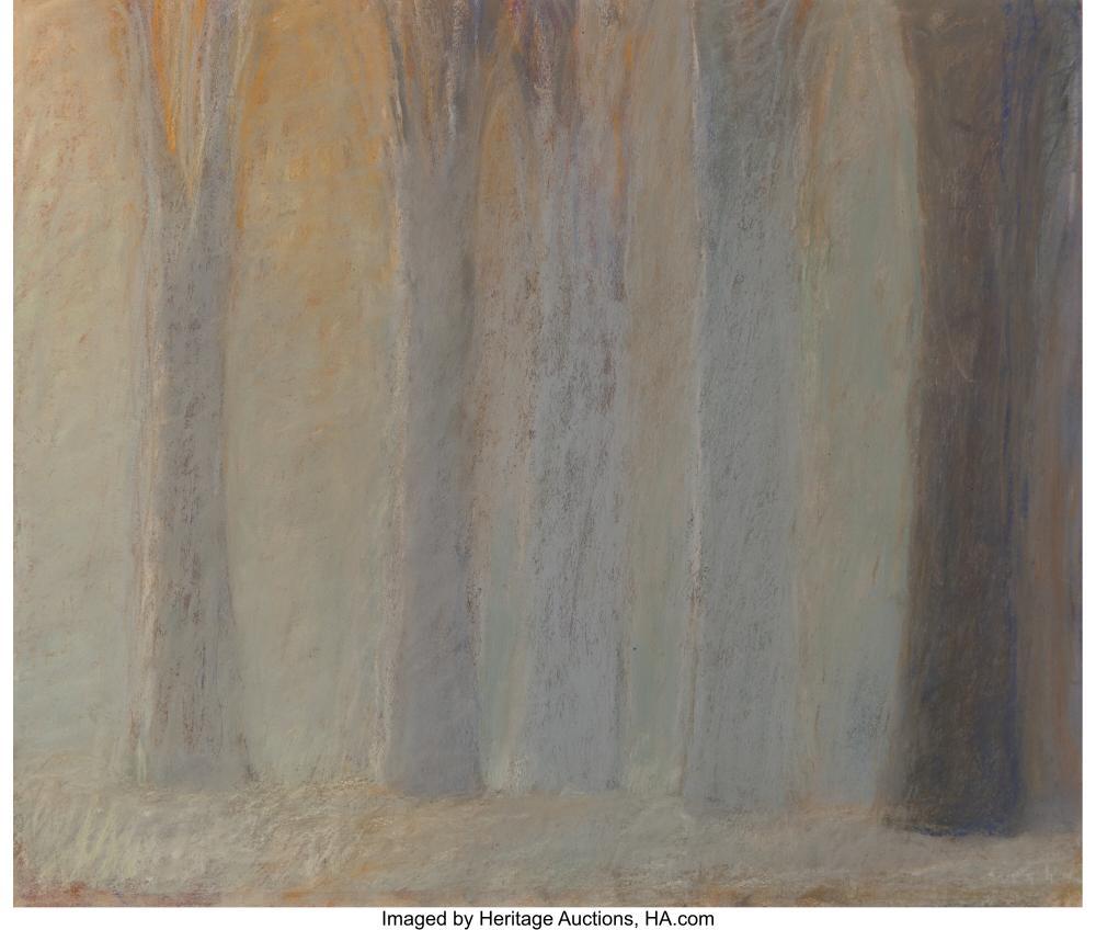 Wolf Kahn (American, 1927-2020) Untitled (Trees in Mist) Pastel on paper 13-7/8