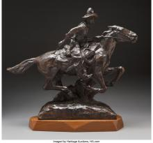 Melvin Charles Warren (American, 1920-1995) Run for the Rio Grande, 1967 Bronze