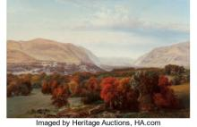 ALEXANDER LAWRIE (AMERICAN, 1828-1917) VIEW OF WEST POINT, 1869 OIL ON CANVAS 36