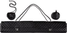 Chanel Limited Edition Black Quilted Lambskin Leather &