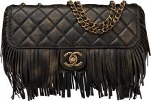 Chanel Limited Edition Paris-Dallas Black Quilted Leath