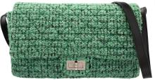 Chanel Green Quilted Tweed Reissue Flap Bag  Excellent