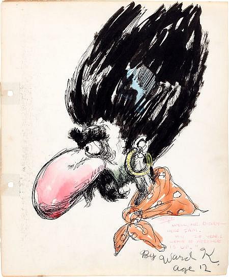 Ward Kimball Going Away Drawing for Joe Magro (Walt Dis