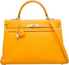 Hermes Limited Edition Candy Collection 35cm Jaune d'Or