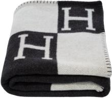 Hermes Ecru & Gris Fonce Wool and Cashmere Avalon Blank