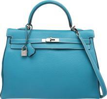 Hermes Special Order 35cm Blue Jean & Indigo Togo Leath