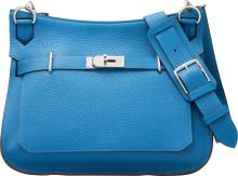 Hermes 31cm Mykonos Clemence Leather Jypsiere Bag with
