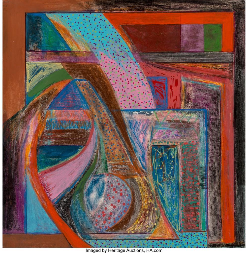 Ralph Arnold (American, b. 1924) Cascade, 1986-88 Crayon, acrylic and pencil on