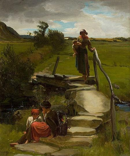 WILLIAM HOLYOAKE (British, 1834-1894) Gathering