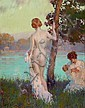 EDWARD DUFNER (American, 1871-1957) By the River, Edward Dufner, Click for value