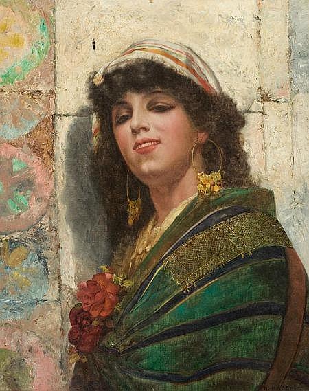 ALOIS BROCH (German, 20th Century) Gypsy Girl Oil