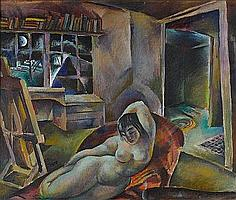 PEPPINO MANGRAVITE (Italian, 1896-1978) Moonlight
