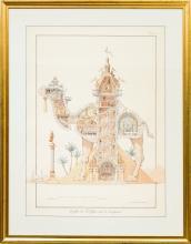 A John Stanton Oversized Decorative Print in Giltwood F