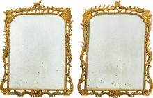 A Pair of Rococo Style Carved Giltwood Mirror Frames, 4