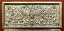 A Continental Wood and Silver-Plated Panel, early 20th