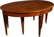 A Hepplewhite-Style Mahogany Banquet Table, 19th centur