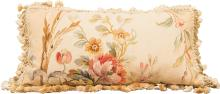 An Aubusson Tapestry Fragment Pillow, 19th century and