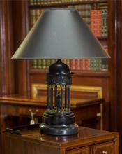 A Neoclassical Slate Rotunda-Form Lamp, 20th century 22