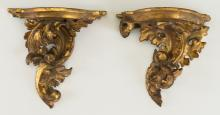 A Small Near Pair of Continental Rococo Revival Carved