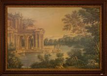 An Italianate Caprice  Oil and Mixed Media on Canvas Ea