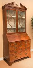 A American Federal Carved Cherry Secretary Bookcase, ea