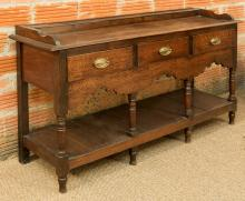 A George III Carved Oak Welsh Dresser, early 19th centu