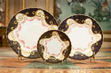 A Group of Thirty-Four Royal Doulton Partial Gilt Porce