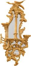 A Pair of Chinese Chippendale-Style Giltwood and Mirror
