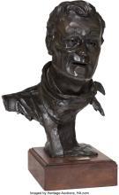 Gallagher Rule (American, b. 1930) John Wayne II, 1979 Bronze with dark brown pa