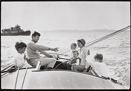 MARK SHAW (American, 1922-1969) Kennedy Family Sailing,