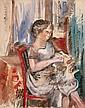 JEAN DUFY (French, 1888-1964) Femme à la couture Gouach
