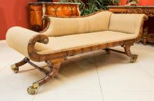 A Regency-Style Carved Mahogany Grecian Couch, late 19t