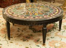 An Italian Specimen Marble Center Table, early 20th cen