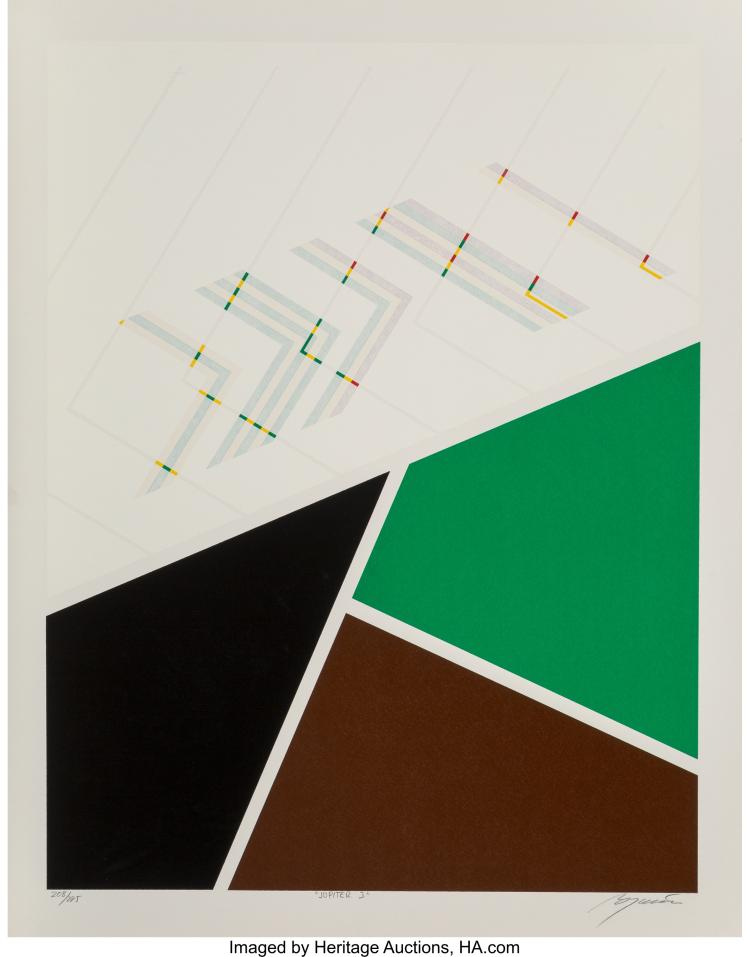 RAFEL BOGARIN (B. 1946) JUPITER 3, 1981 SCREENPRINT IN COLORS ON PAPER 25-1/2 X