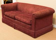 A Fortuny-Style Cut-Velvet Upholstered Sofa, 20th centu