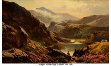 Sidney Richard Percy (British, 1821-1886) Llyn Dinas, North Wales, 1873 Oil on c
