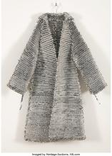 Oliver Herring (American, b. 1964) Untitled (Mylar Coat) Knit silver Mylar 55 in