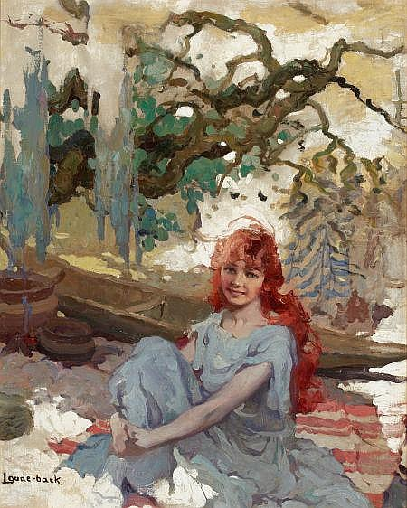 Louderback, Walt S. - Girl at Cabin