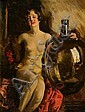 Christy, Howard Chandler - Nude with Jug, Howard Chandler Christy, Click for value