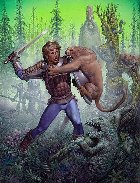 Corben, Richard - Forest of Doom, paperback cover