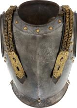 A Continental Patinated Metal Cuirassier.  19th century