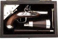 Cased Bonaparte Flintlock Pistol with Napoleonic Inscri