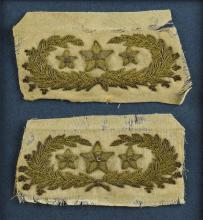 Confederate General's Collar Insignia of Thomas Lafayet