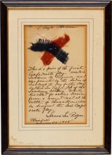 Confederate Flag: Two Swatches Given to Major Arthur Le