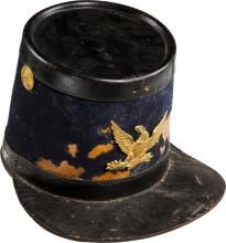 U.S. 1864 Light Artillery Shako. Dark blue wool covered