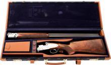 Cased 12 Gauge Beretta SO-5 Sidelock Over and Under Sho