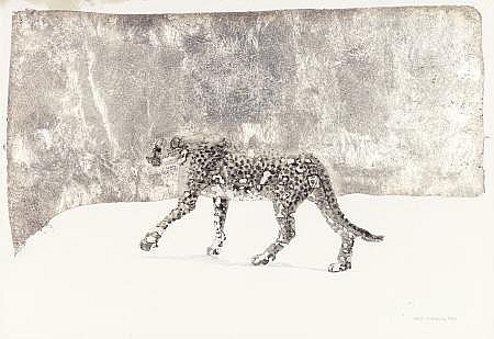 KELLY FEARING (American, b. 1918) Snow Leopard,