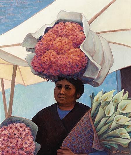 EDITH ANNE HAMLIN (American, 1902-1992) Mercado #