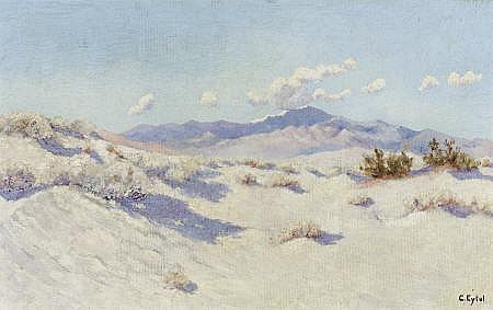 CARL A. EYTEL (German, 1862-1925) Palm Desert Oil